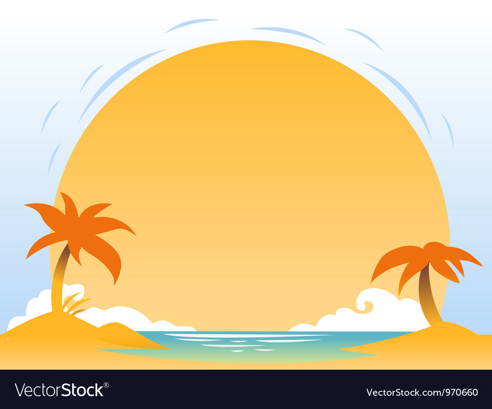 Abstract sunset background for design vector | Price: 1 Credit (USD $1)