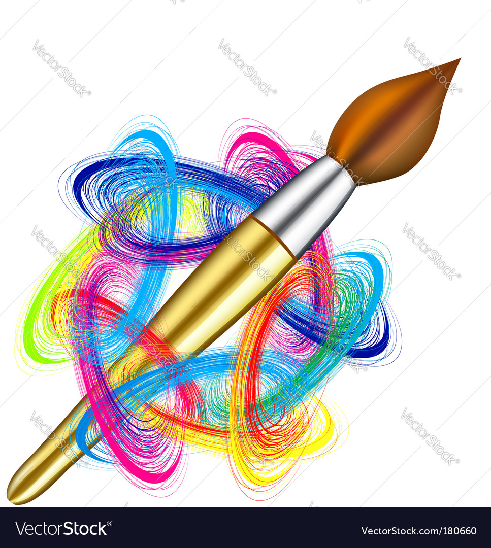 Artists palette and brush vector   Price: 1 Credit (USD $1)