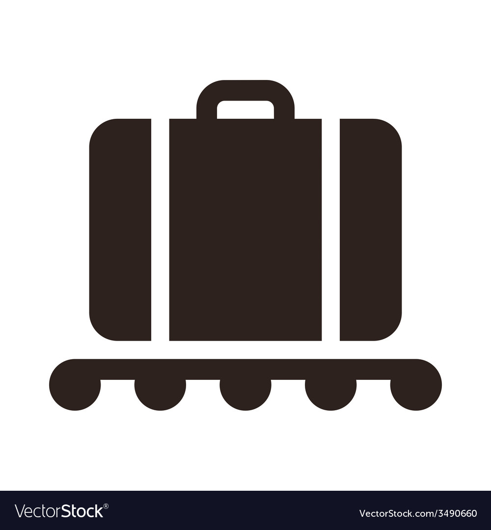 Baggage claim - travel icon vector | Price: 1 Credit (USD $1)