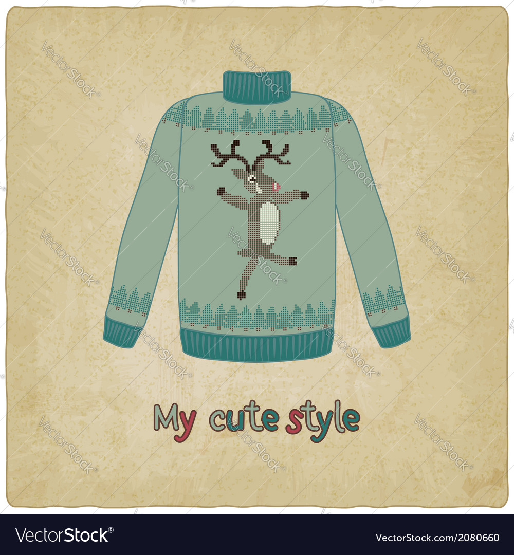 Cute sweater old background vector | Price: 1 Credit (USD $1)