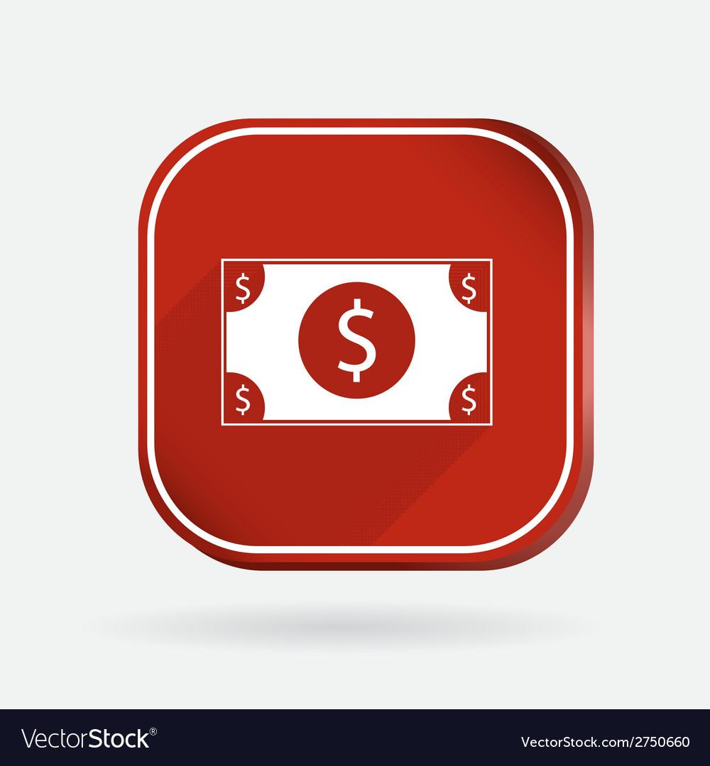 Dollar bill color square icon vector   Price: 1 Credit (USD $1)