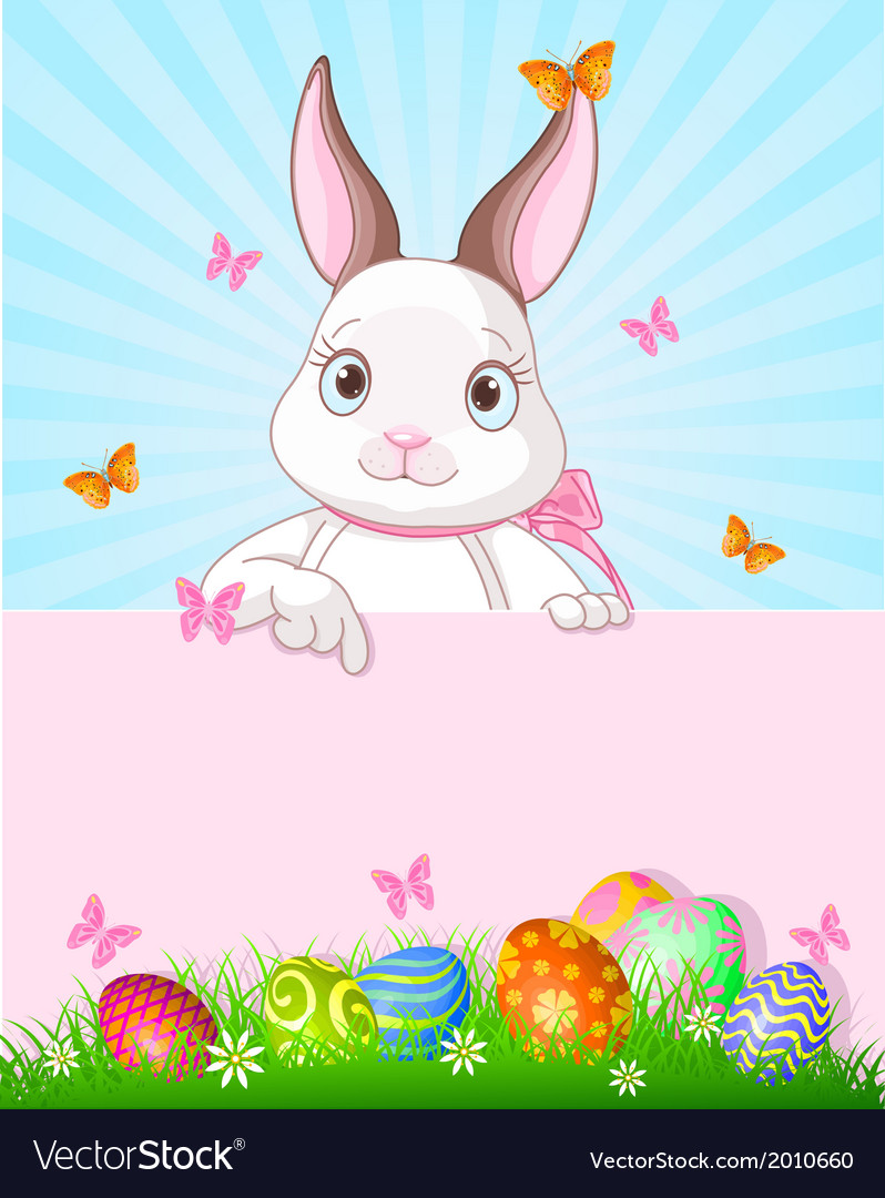 Easter bunny design vector | Price: 1 Credit (USD $1)