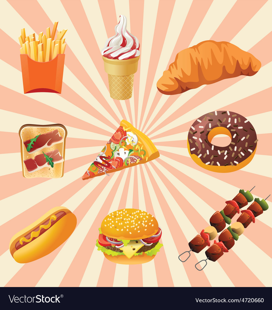 Fast foods vector | Price: 1 Credit (USD $1)