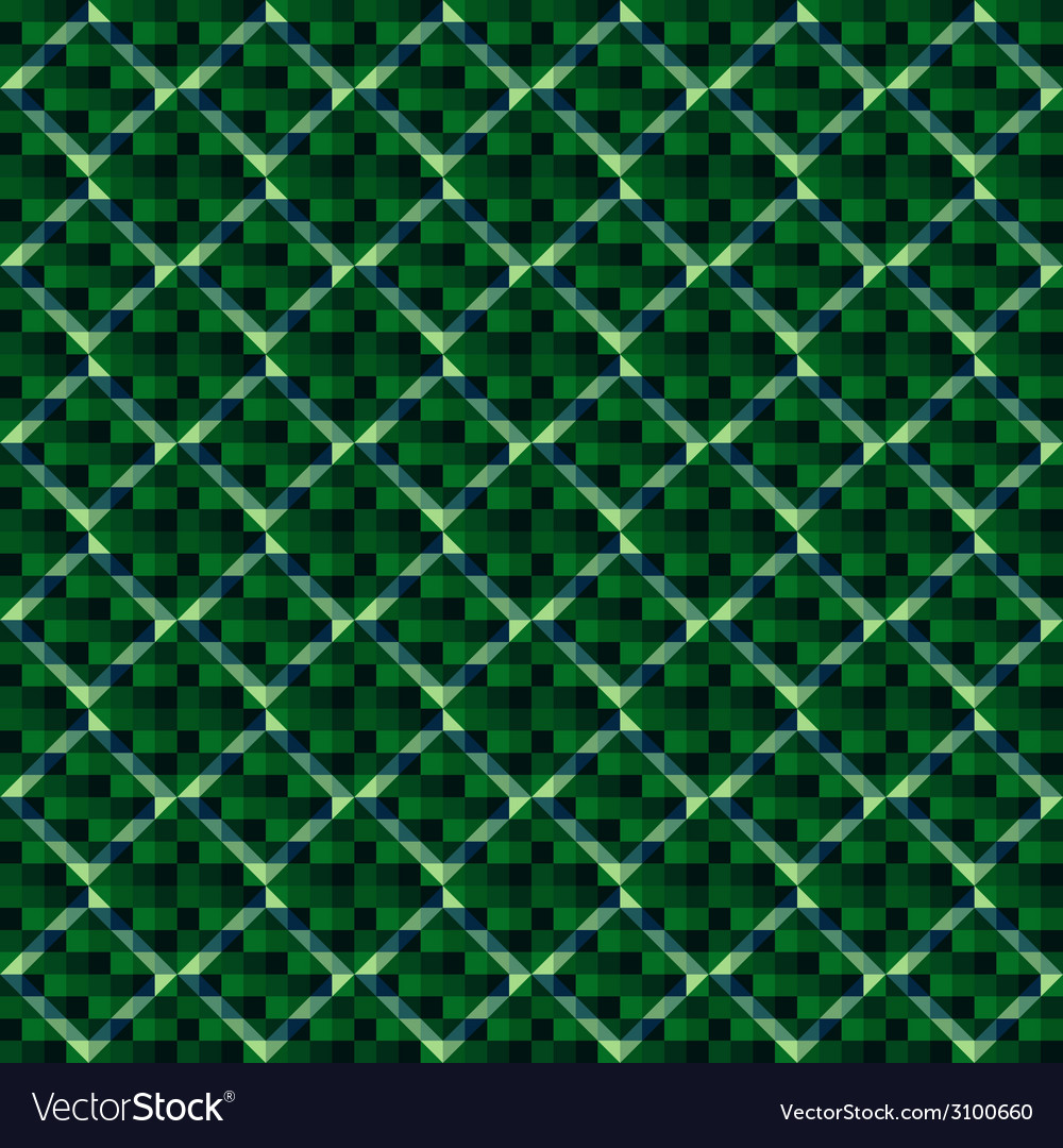 Green square tile pattern vector | Price: 1 Credit (USD $1)