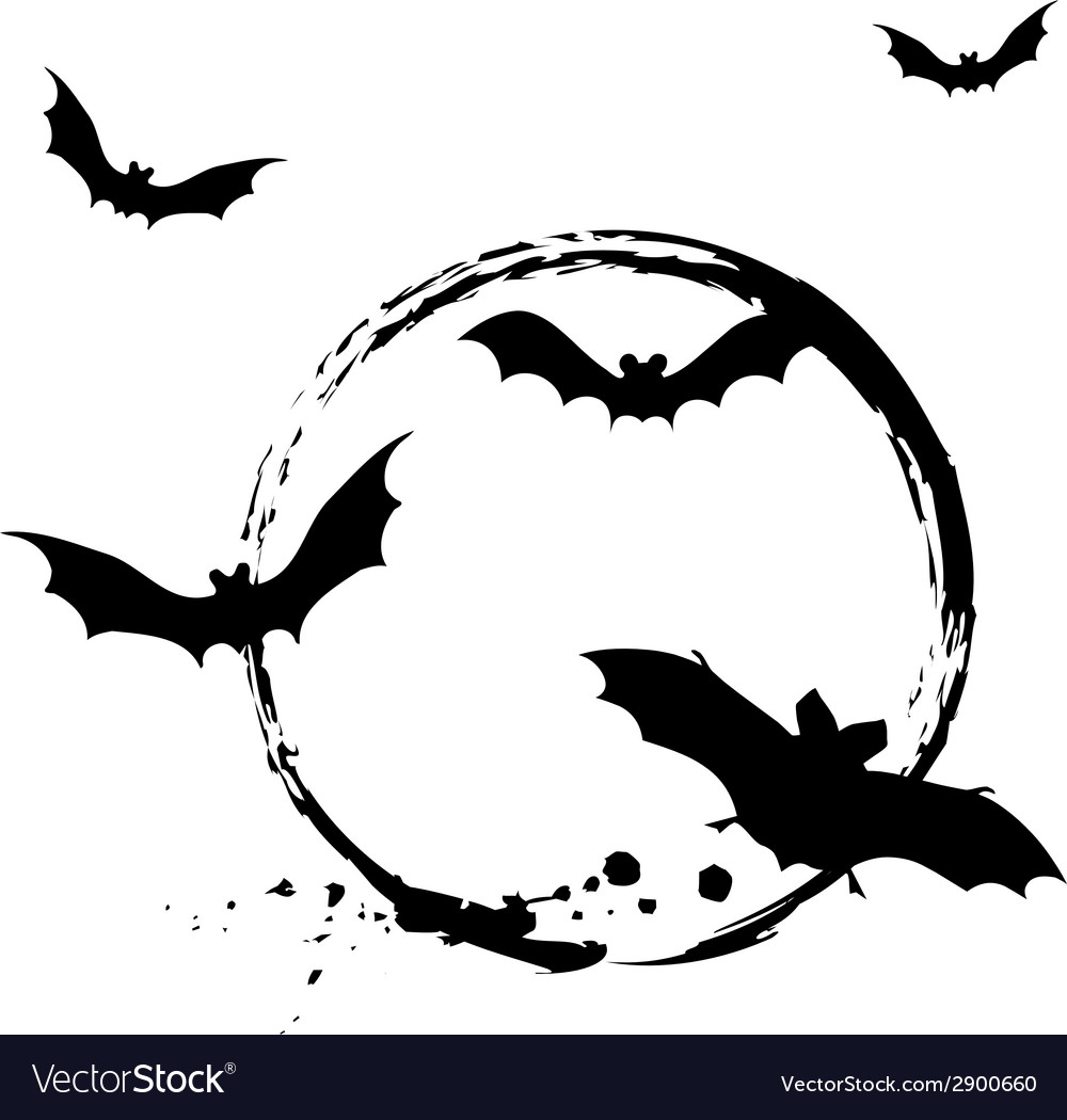 Halloween bats vector | Price: 1 Credit (USD $1)