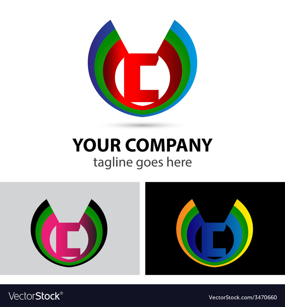 Logo letter c company design template vector | Price: 1 Credit (USD $1)