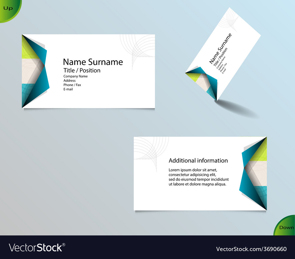 New bright white business card layout vector | Price: 1 Credit (USD $1)