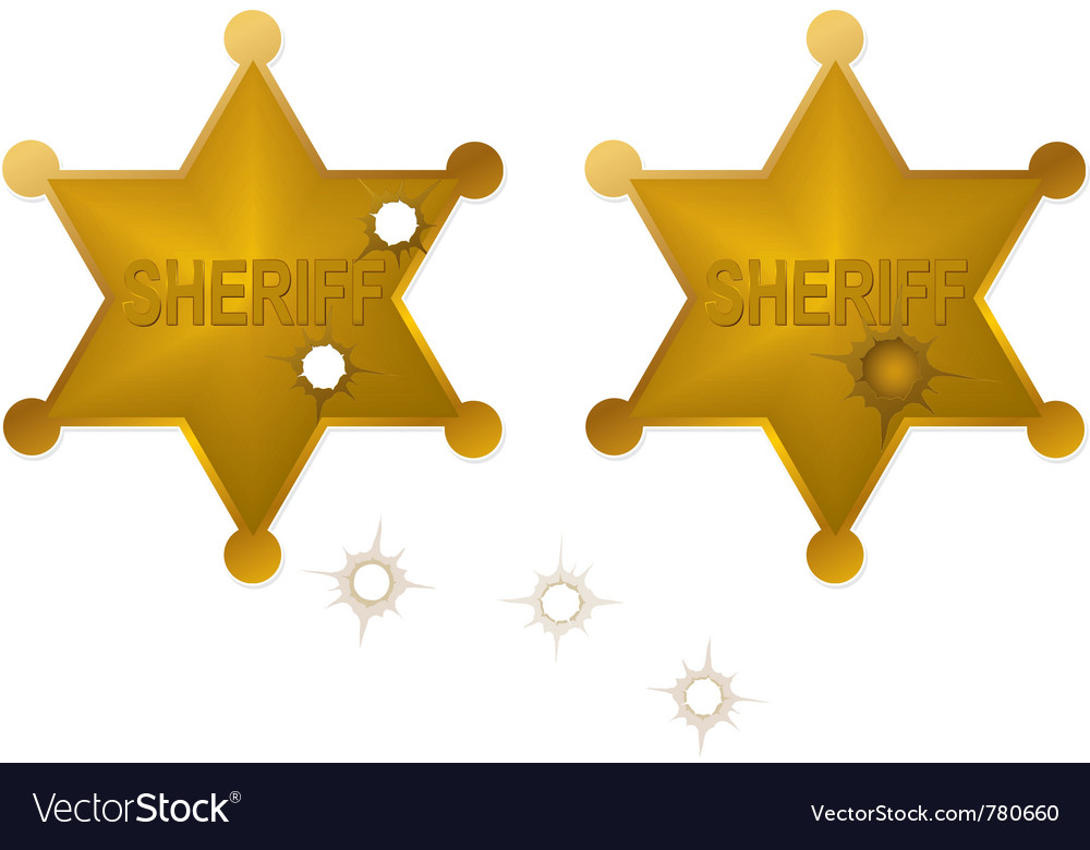 Old sheriff badges vector | Price: 1 Credit (USD $1)