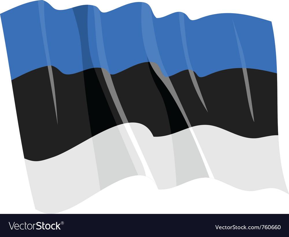 Political waving flag of estonia vector | Price: 1 Credit (USD $1)