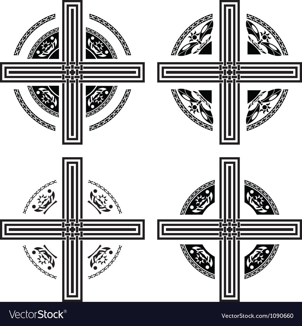 Set of fantasy crosses vector | Price: 1 Credit (USD $1)