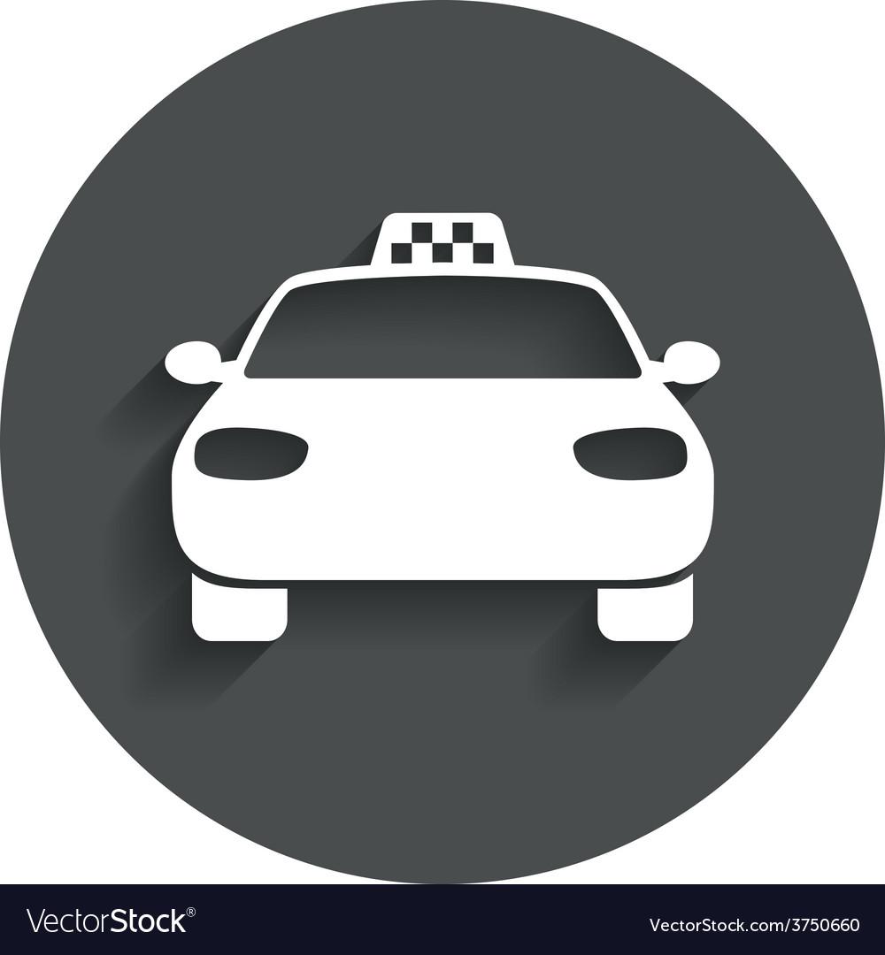 Taxi car sign icon public transport symbol vector | Price: 1 Credit (USD $1)