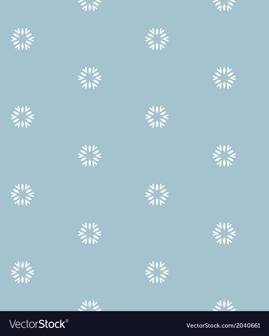 Blue seamless pattern with snowflakes vector | Price: 1 Credit (USD $1)