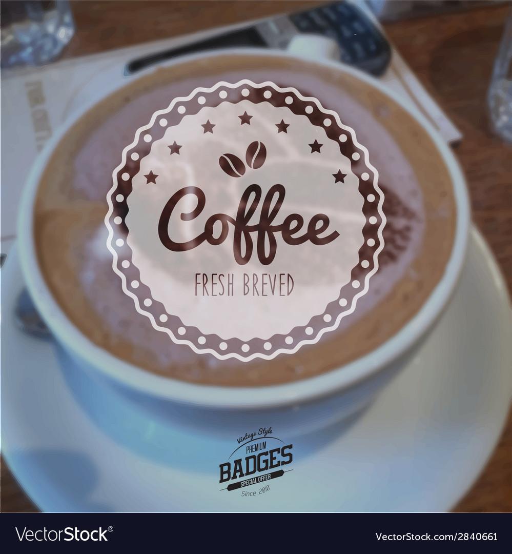 Coffee badge vector   Price: 1 Credit (USD $1)