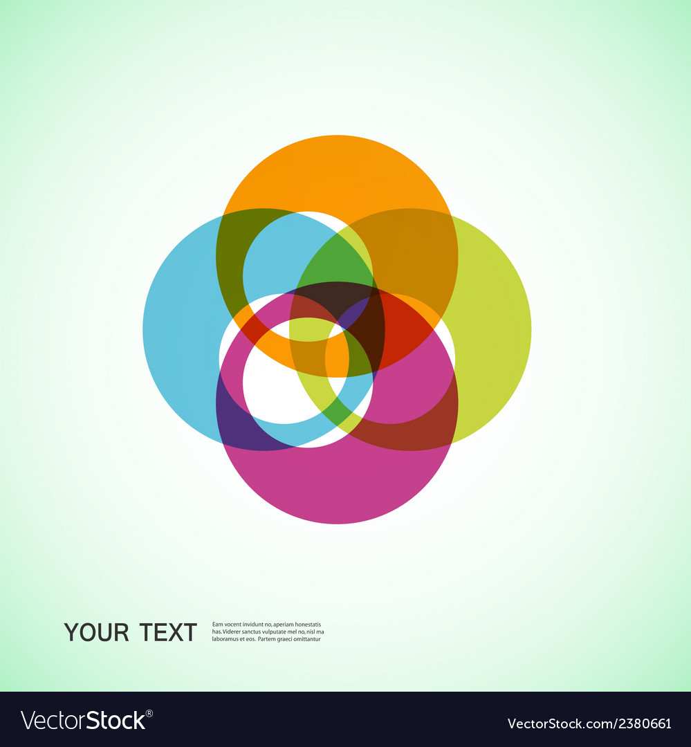 Color round abstract forms eps10 vector | Price: 1 Credit (USD $1)