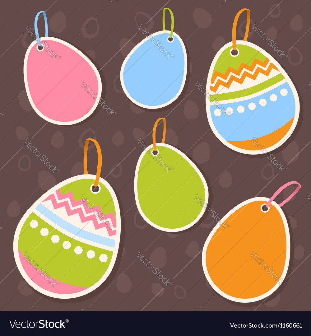Easter painted colorful eggs discount sale sticker vector | Price: 1 Credit (USD $1)