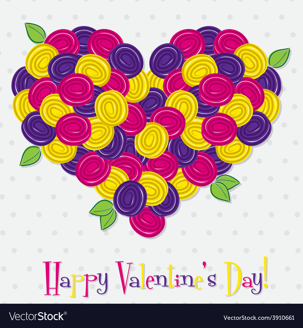 Heart made of roses in format vector | Price: 1 Credit (USD $1)