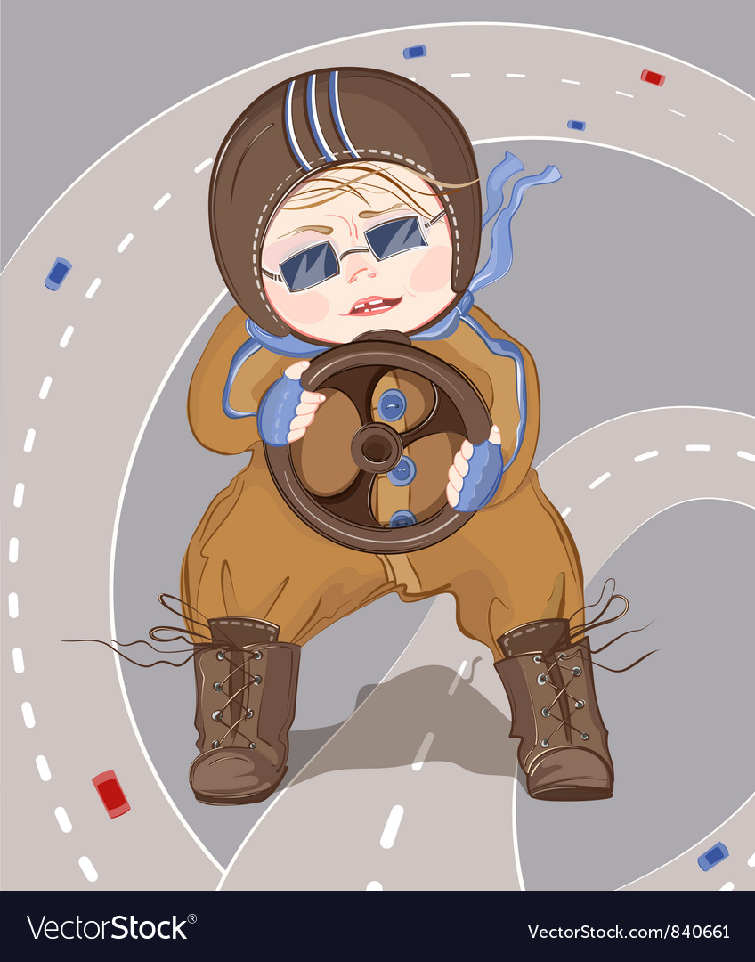 Little driver boy vector | Price: 3 Credit (USD $3)