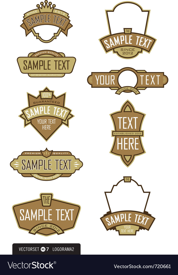 Logo templates vector | Price: 1 Credit (USD $1)