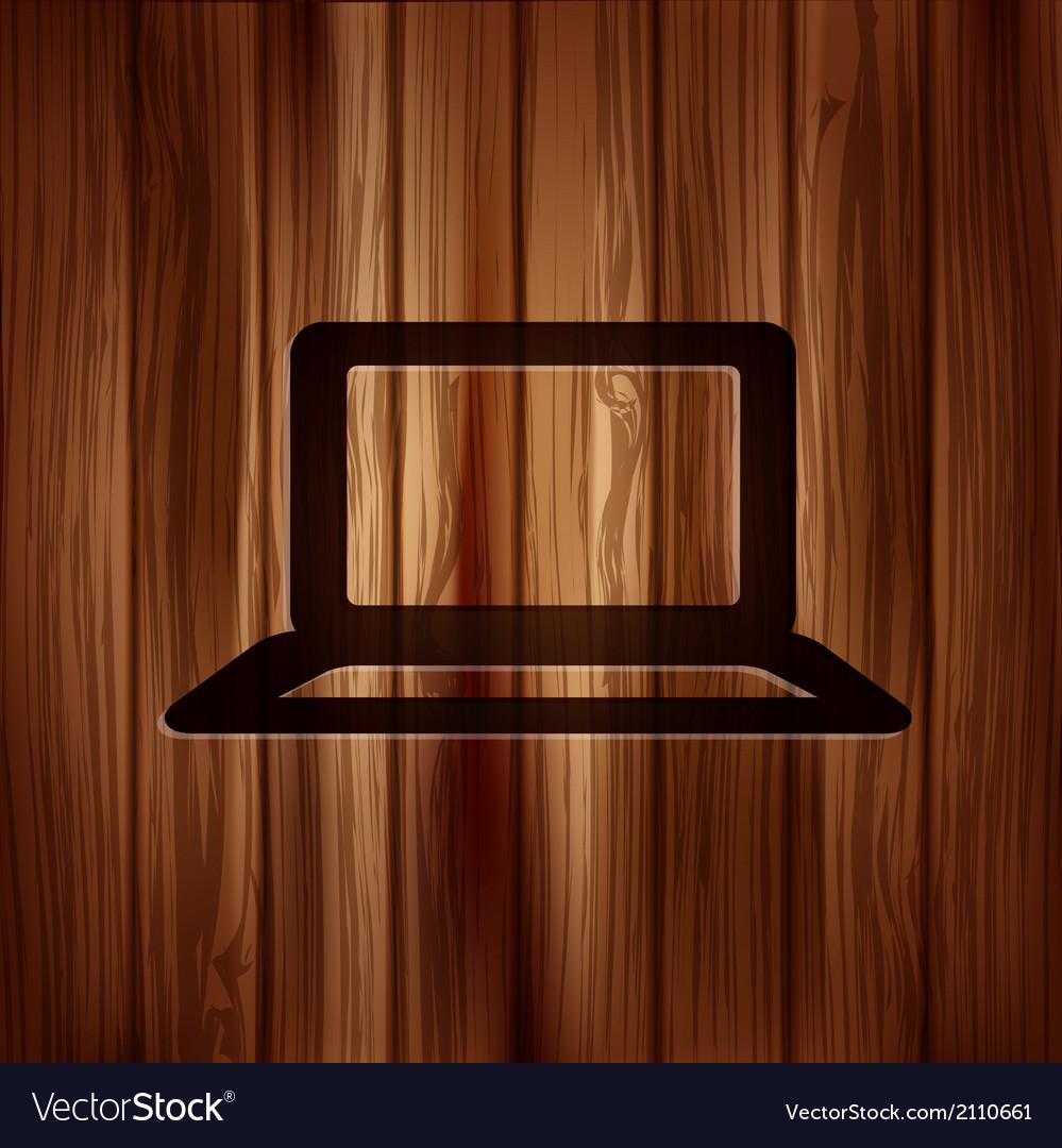 Notebook icon laptop symbol vector   Price: 1 Credit (USD $1)