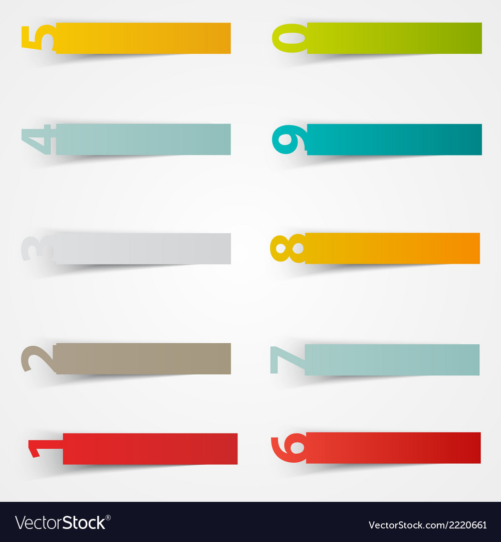 Number stickers template color paper vector   Price: 1 Credit (USD $1)