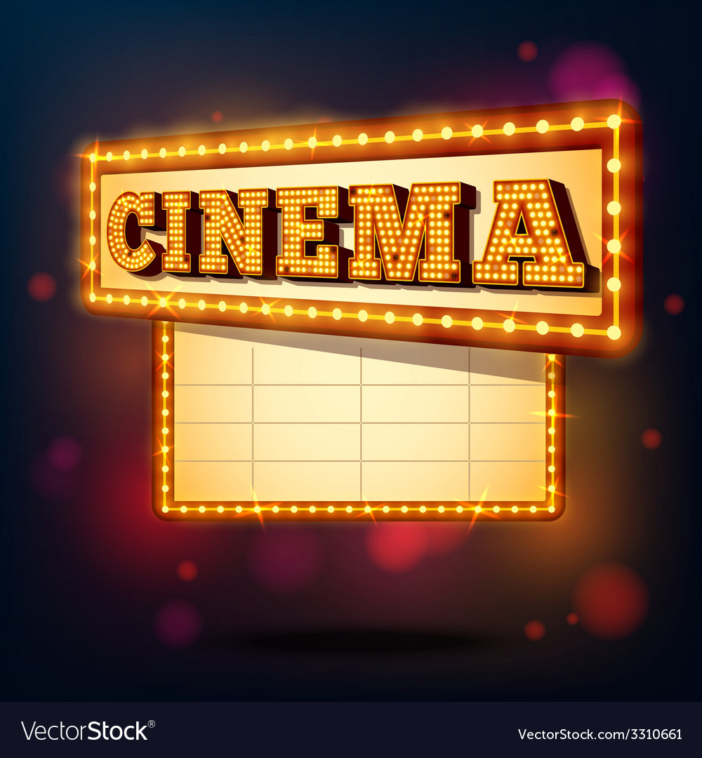 Retro cinema sign vector | Price: 1 Credit (USD $1)