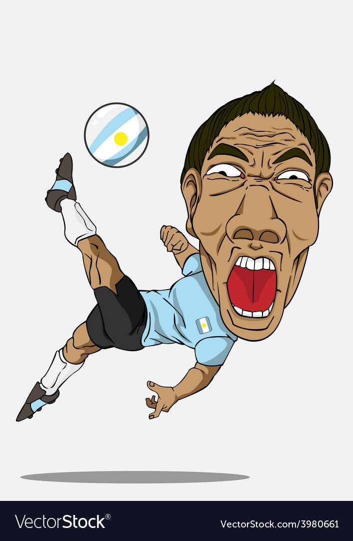 Soccer player argentina vector | Price: 1 Credit (USD $1)