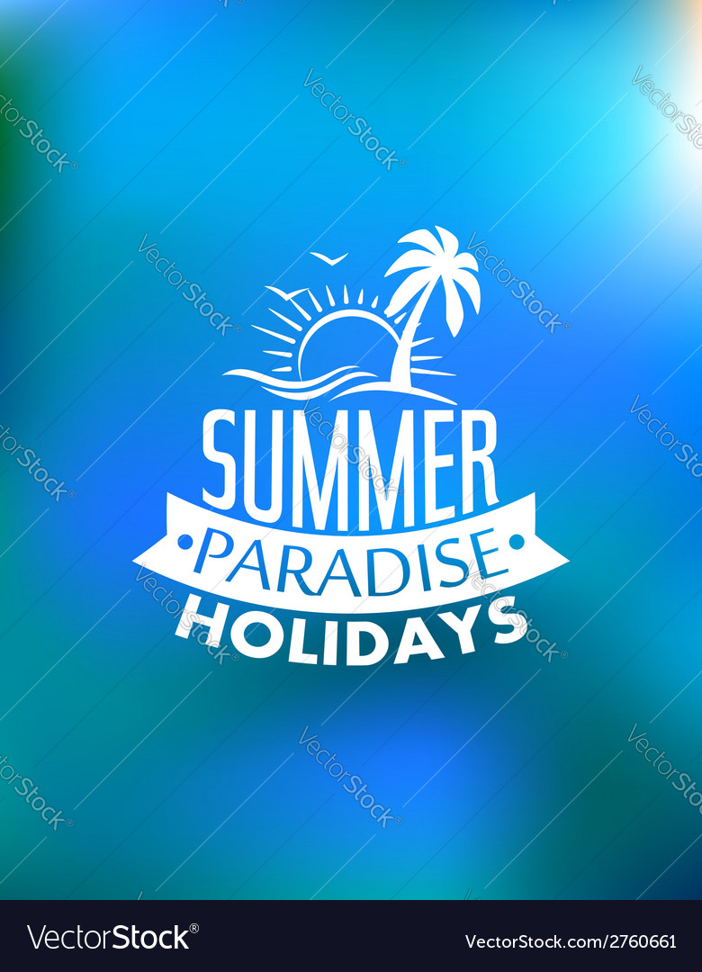 Summer paradise poster design vector | Price: 1 Credit (USD $1)