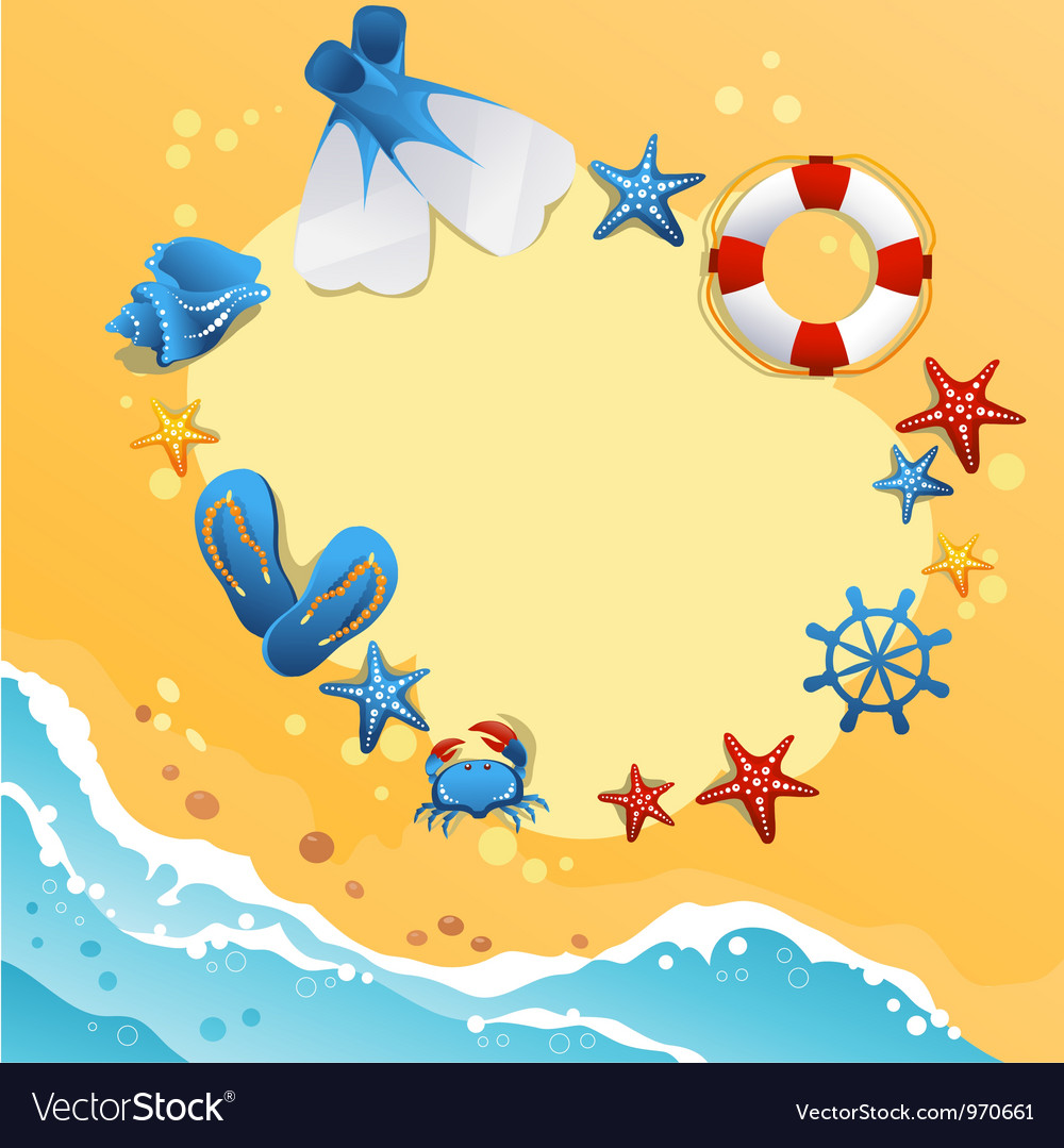 Template design of summer beach banner vector | Price: 1 Credit (USD $1)