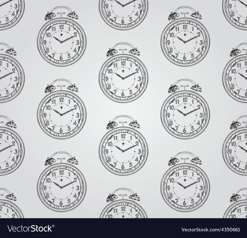 Vintage hand drawn seamless pattern vector | Price: 1 Credit (USD $1)