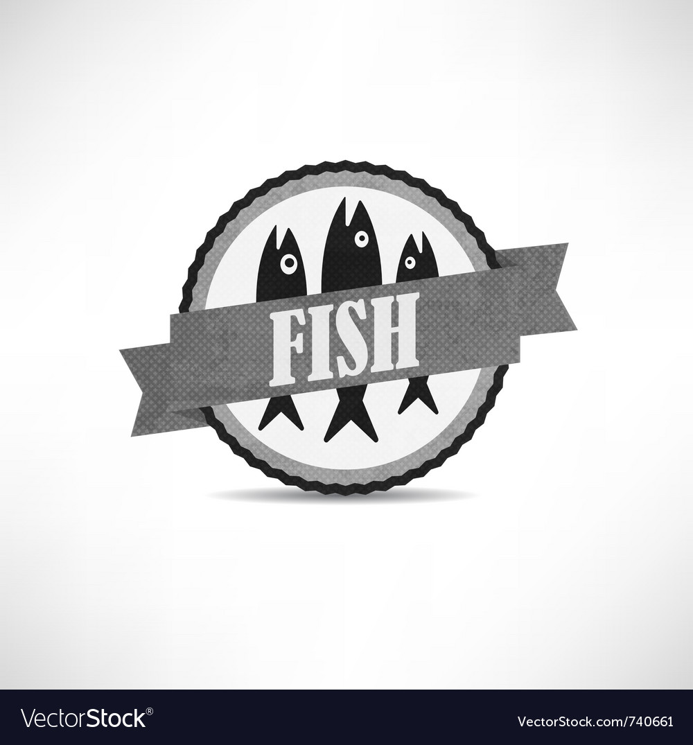 Vintage retro fish labels vector | Price: 1 Credit (USD $1)