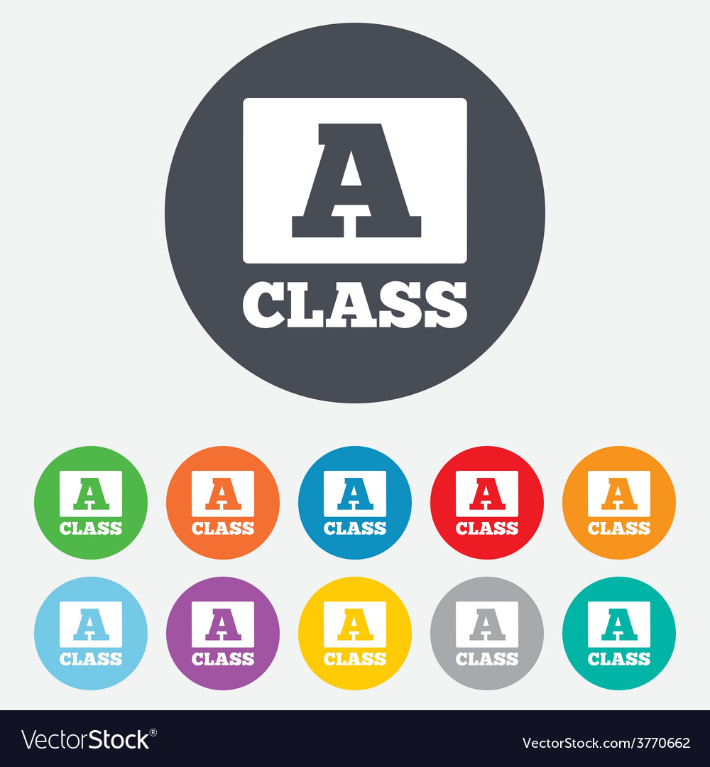 A-class sign icon premium level symbol vector | Price: 1 Credit (USD $1)
