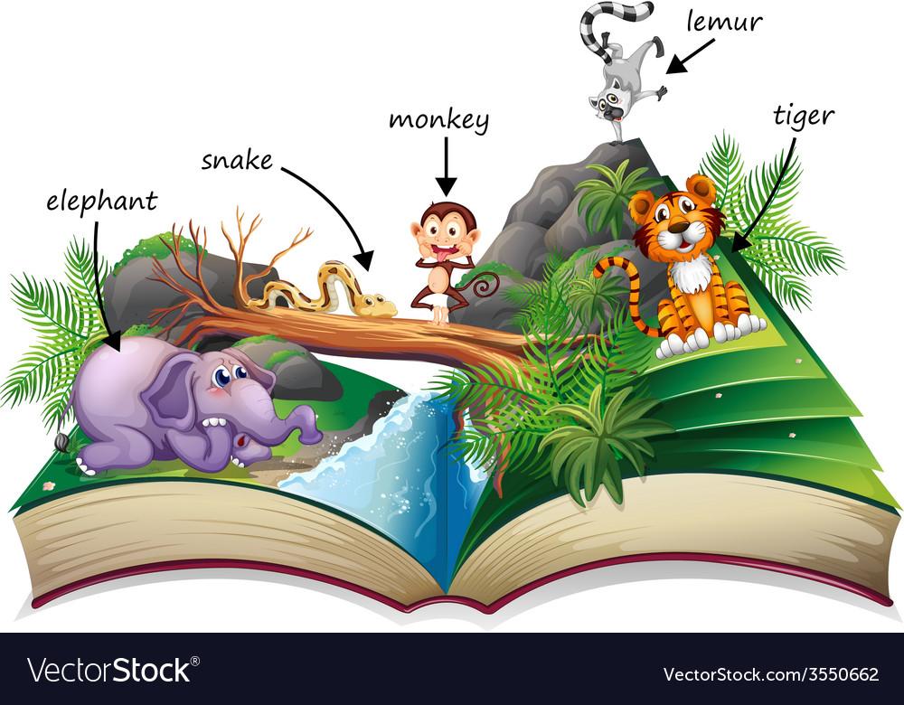 Animal book vector   Price: 3 Credit (USD $3)