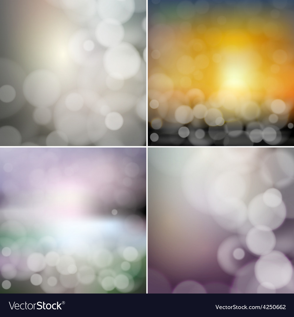Big set of blurry backgrounds with bokeh effect vector   Price: 1 Credit (USD $1)