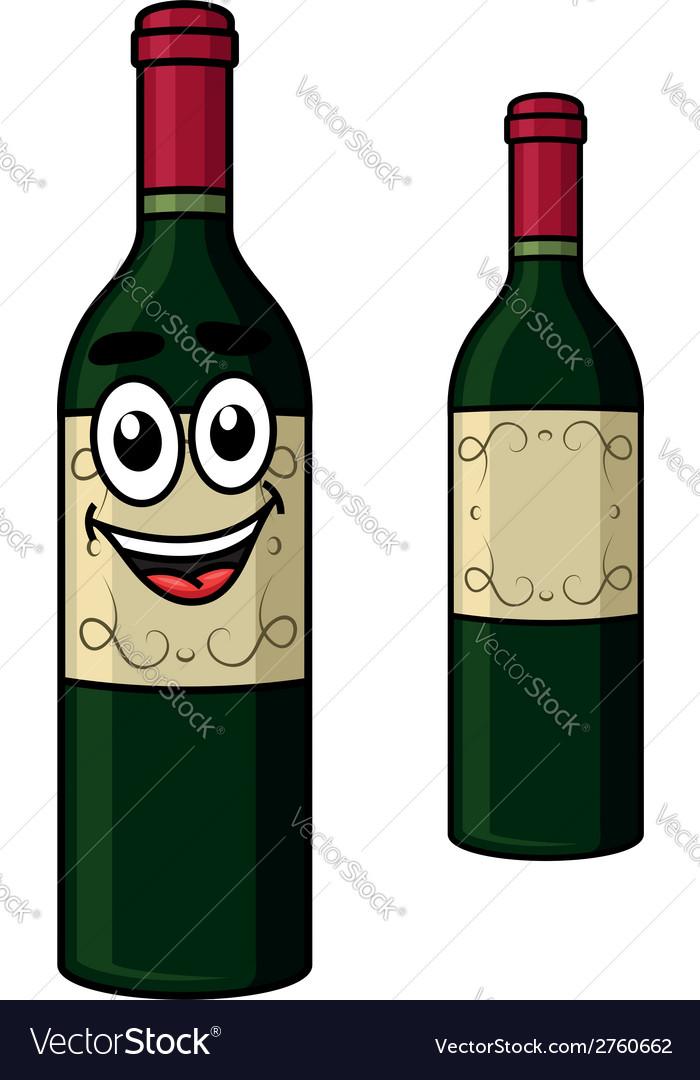 Cartoon wine bottle vector | Price: 1 Credit (USD $1)