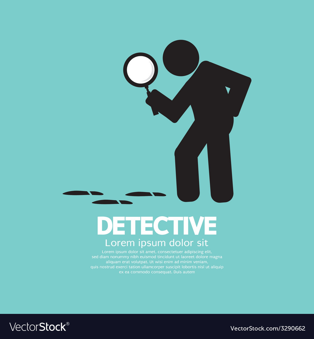 Detective symbol graphic vector | Price: 1 Credit (USD $1)