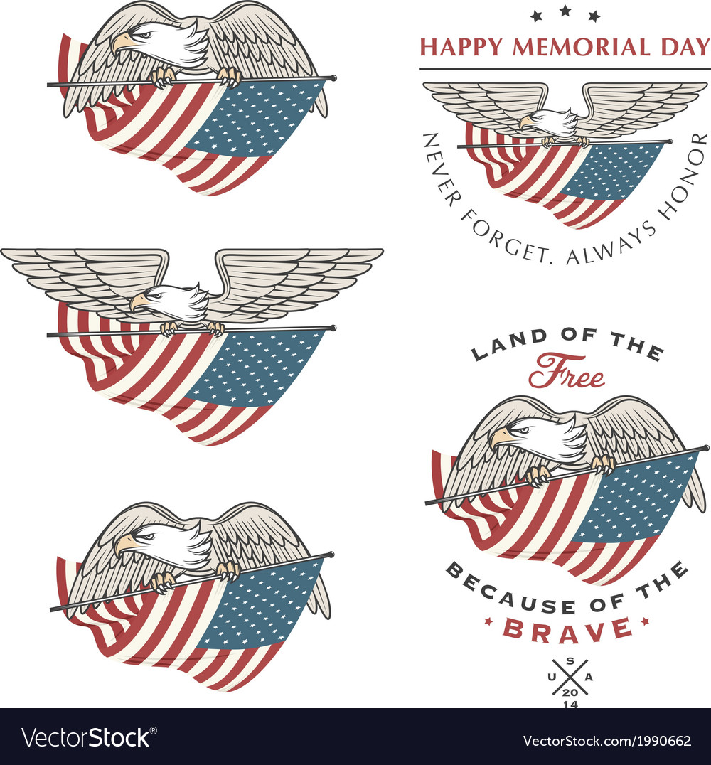Eagle flying with american flag vector   Price: 1 Credit (USD $1)