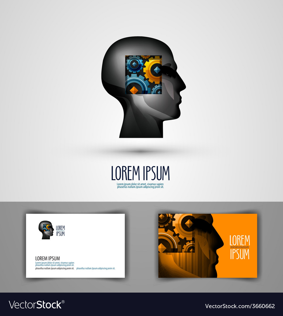 Education logo design template science or thought vector | Price: 1 Credit (USD $1)