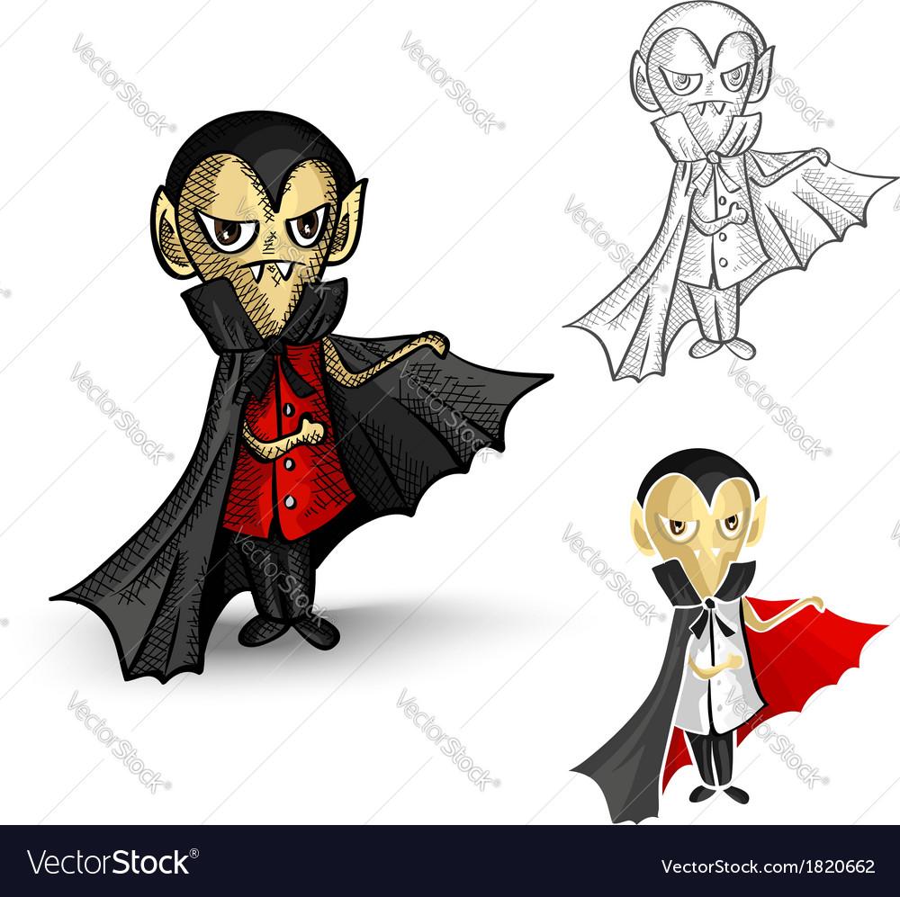 Halloween monsters isolated spooky vampires set vector | Price: 1 Credit (USD $1)