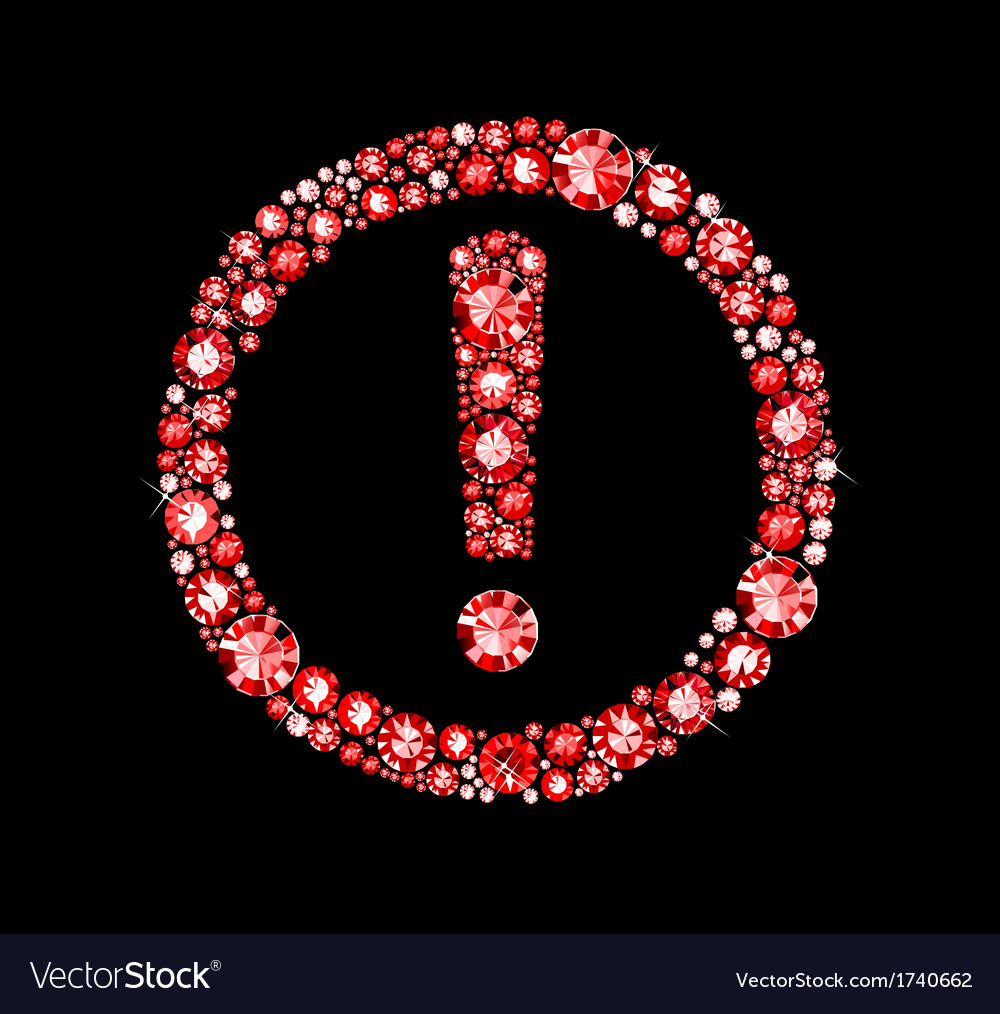 Ruby attention sign vector | Price: 1 Credit (USD $1)