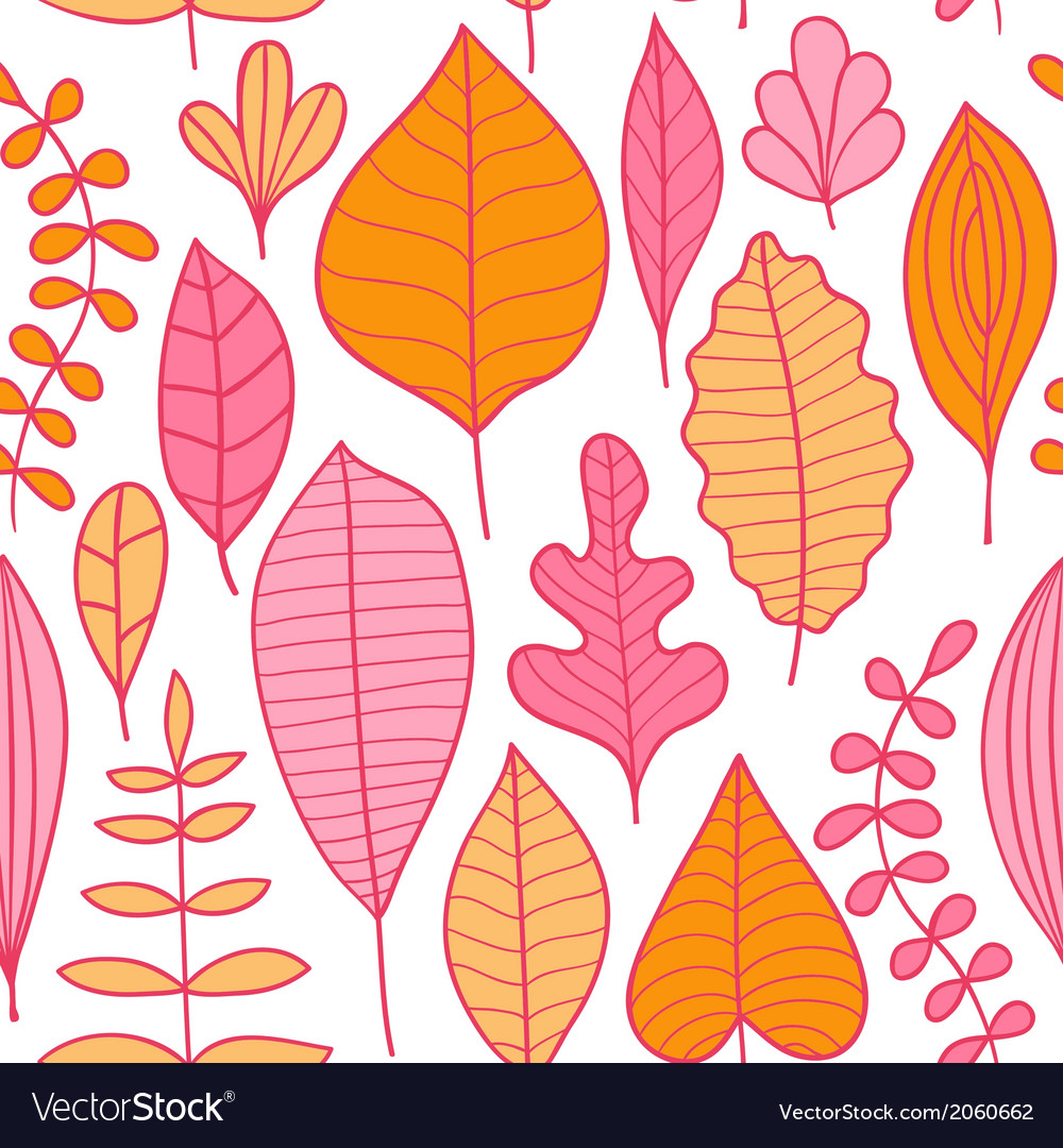 Seamless pattern with leaf abstract leaf texture vector | Price: 1 Credit (USD $1)