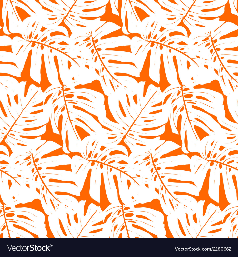 Seamless pattern with tropical leaves vector | Price: 1 Credit (USD $1)