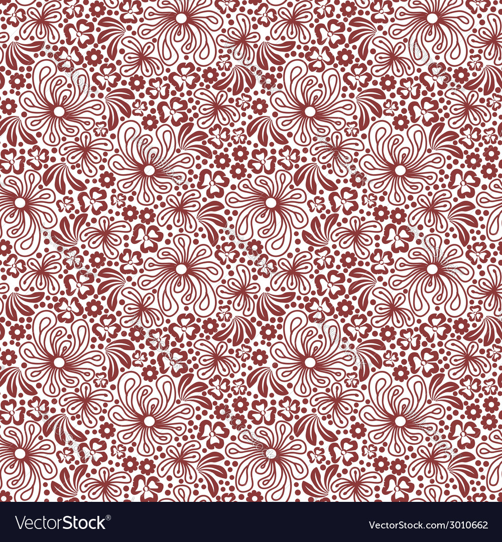 Seamless red pattern on white background vector | Price: 1 Credit (USD $1)