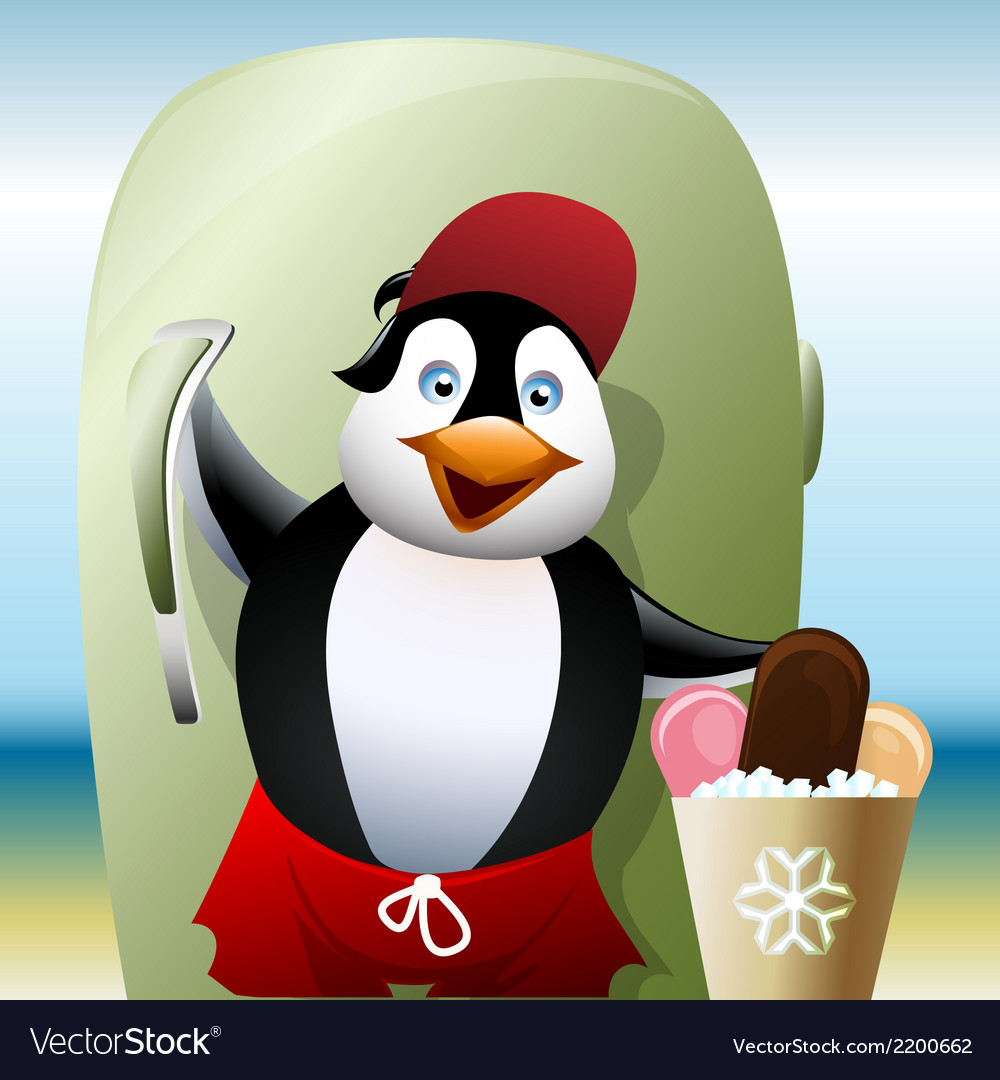 The seller of ice cream vector | Price: 3 Credit (USD $3)