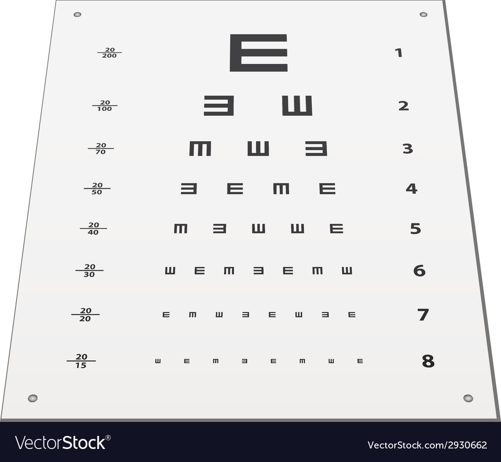 Snellen eye test chart vector | Price: 1 Credit (USD $1)