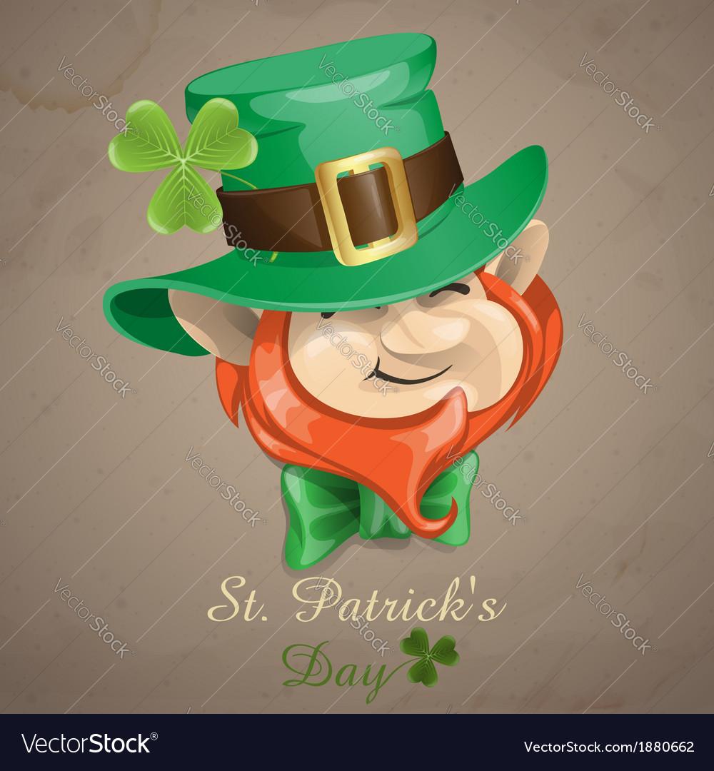 St patricks day leprechaun face vector   Price: 5 Credit (USD $5)