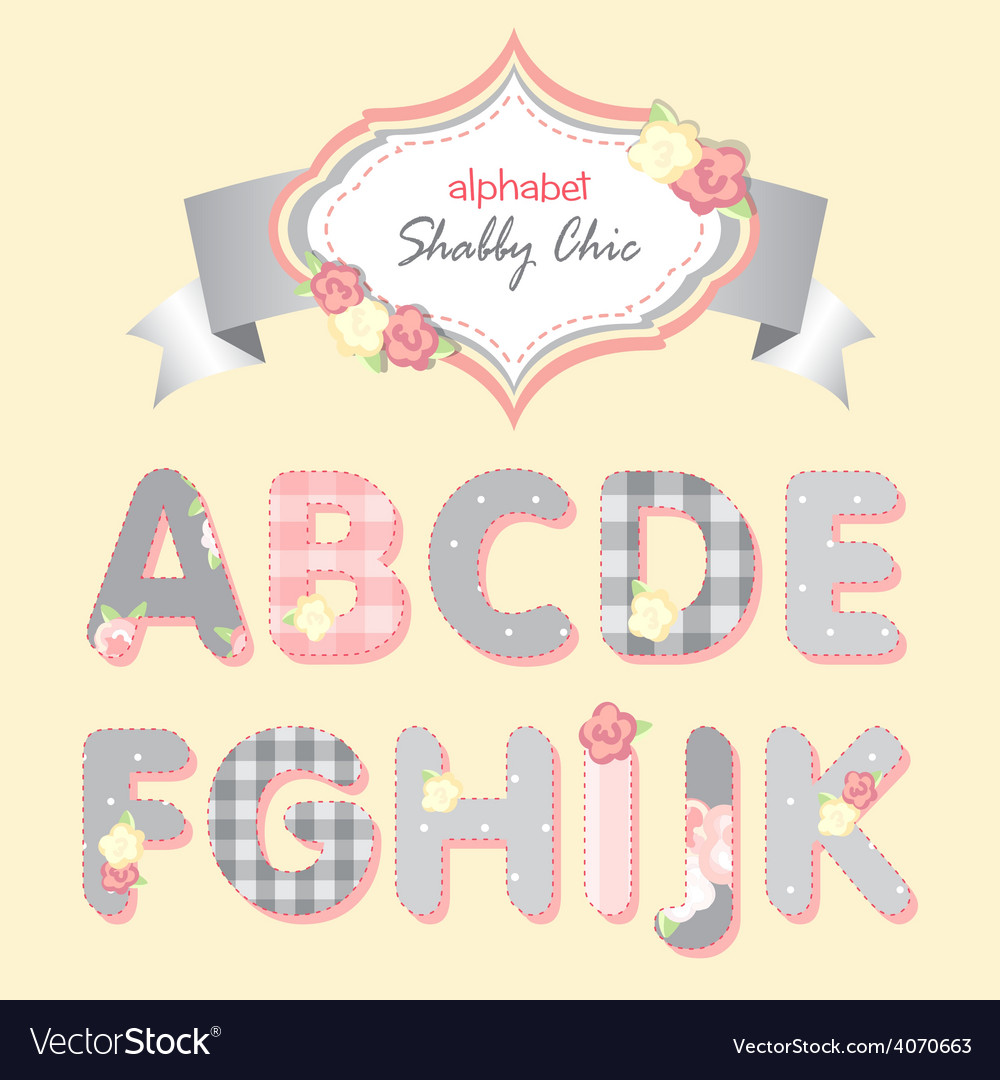 Alphabet shabby chic vector | Price: 1 Credit (USD $1)