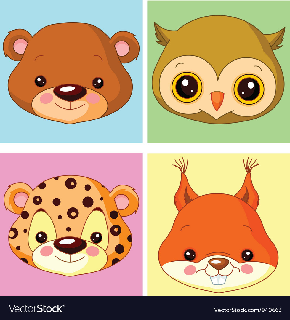 Animal avatars vector | Price: 3 Credit (USD $3)