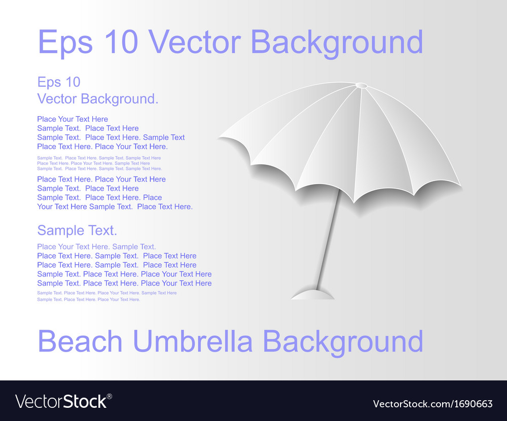 Beach umbrella on a light background vector | Price: 1 Credit (USD $1)
