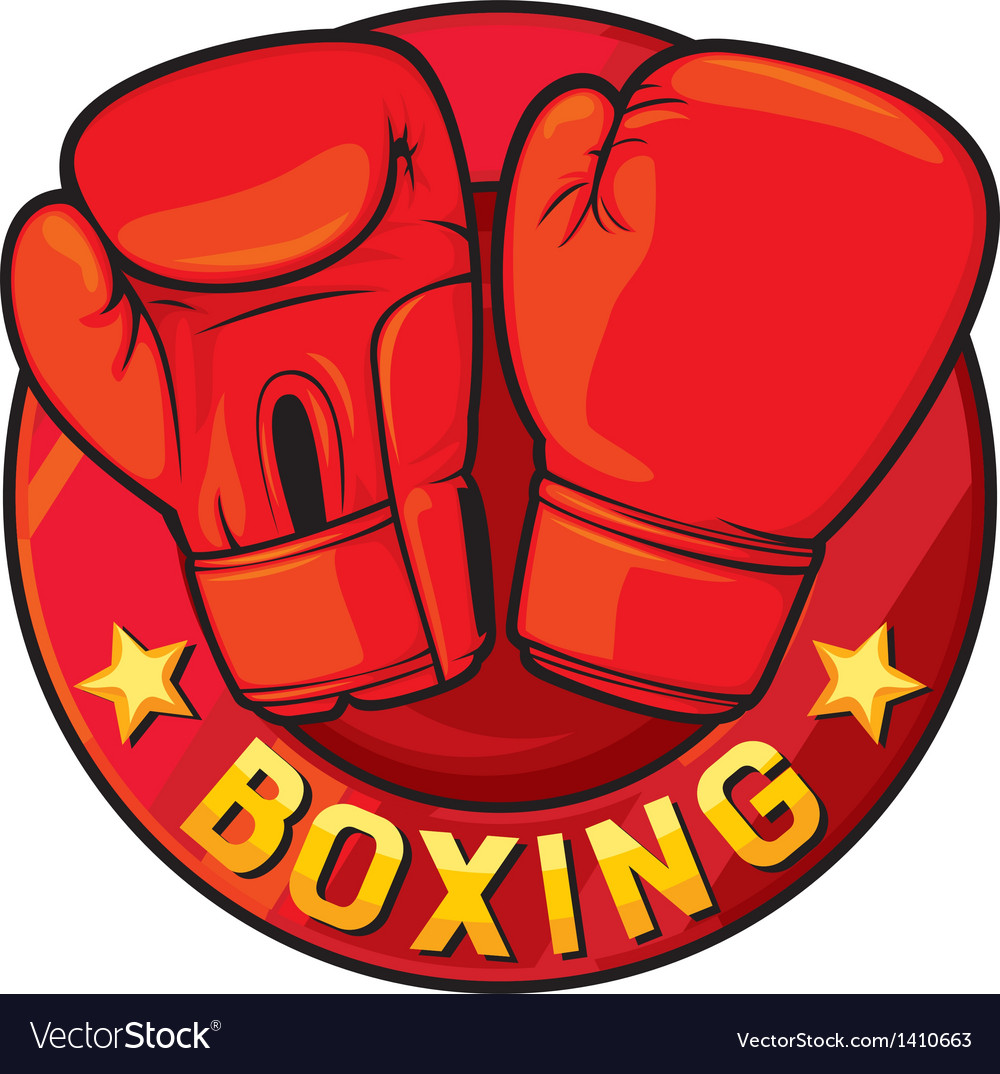 Boxing label vector | Price: 1 Credit (USD $1)