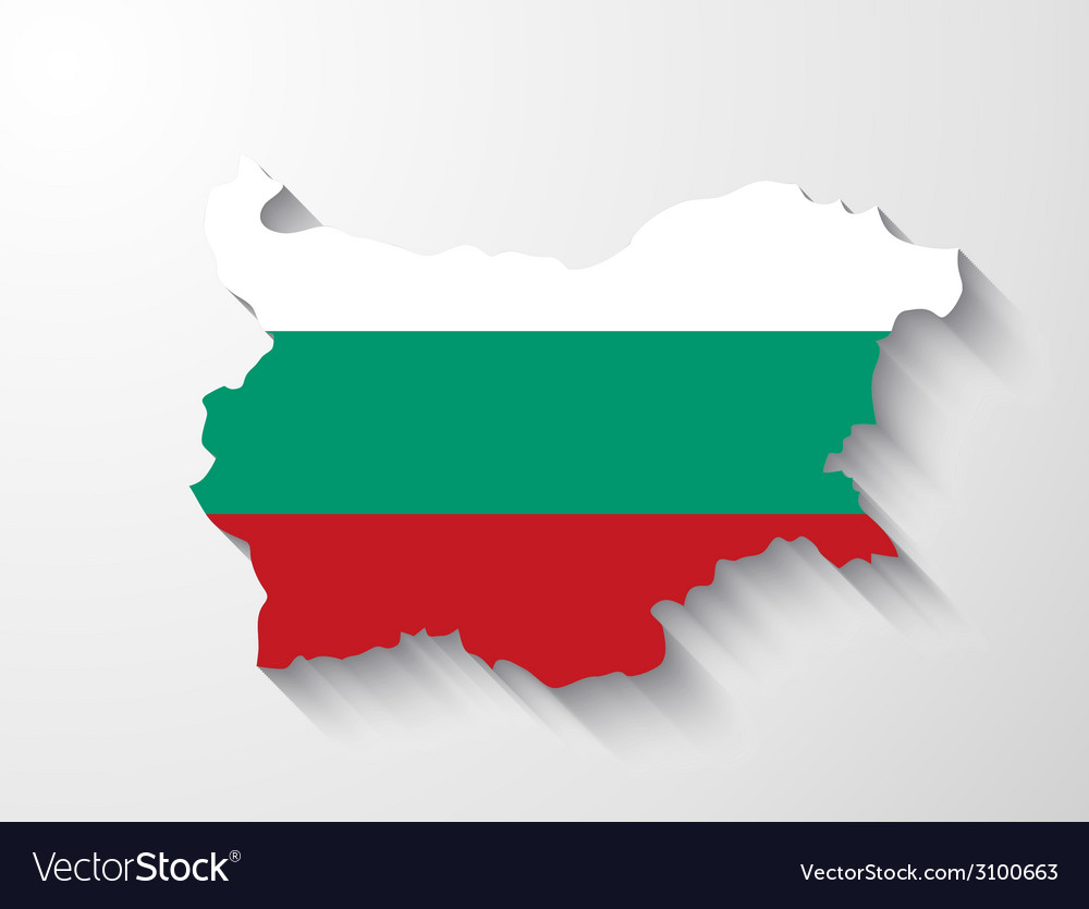 Bulgaria map with shadow effect vector | Price: 1 Credit (USD $1)